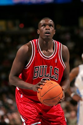 DENVER - NOVEMBER 21:  Luol Deng #9 of the Chicago Bulls shoots a free throw against the Denver Nuggets during the game on November 21, 2006 at the Pepsi Center in Denver, Colorado. The Nuggets defeated the Bulls 113-109. NOTE TO USER: User expressly ackn