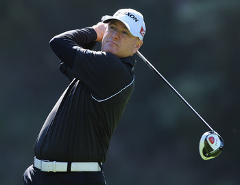 PACIFIC PALISADES, CA - FEBRUARY 17:  Steve Flesch in action during the first round of the Northern Trust Open at Riviera Country Club on February 17, 2011 in Pacific Palisades, California.  (Photo by Stuart Franklin/Getty Images)