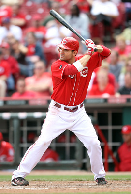 CINCINNATI, OH - MAY 19: Joey Votto #19 of the Cincinnati Reds is at bat during the game against the Pittsburgh Pirates at Great American Ball Park on May 19, 2011 in Cincinnati, Ohio.  (Photo by Andy Lyons/Getty Images)