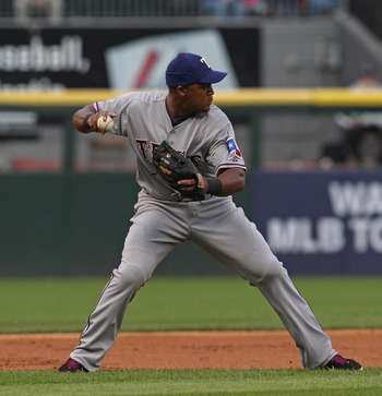 CHICAGO, IL - MAY 17: Adrian Beltre #29 of the Texas Rangers throws the ball to 2nd base against the Chicago White Sox at U.S. Cellular Field on May 17, 2011 in Chicago, Illinois. The White Sox defeated the Rangers 4-3. (Photo by Jonathan Daniel/Getty Ima