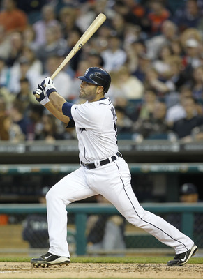 DETROIT - APRIL 26: Alex Avila #13 of the Detroit Tigers bats during the seventh inning of the game against the Seattle Mariners at Comerica Park on April 26, 2011 in Detroit, Michigan. The Mariners defeated the Tigers 7-3.  (Photo by Leon Halip/Getty Ima