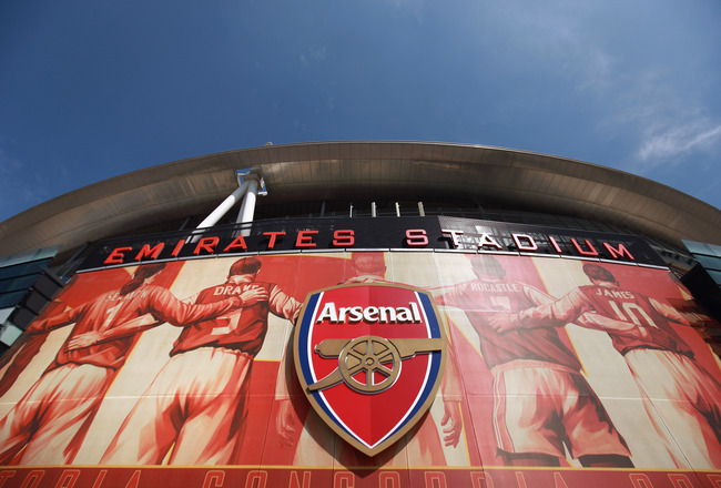 LONDON, ENGLAND - APRIL 11:  A general view of Arsenal Football Club's Emirates Stadium on April 11, 2011 in London, England. American businessman Stan Kroenke's company 'Kroenke Sports Enterprises' has increased its shareholding in Arsenal to 62.89% and