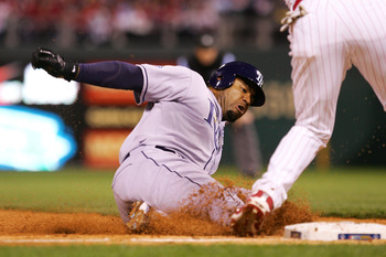 Carl Crawford Slides into Third