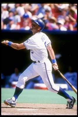 29 Jul 1993:  Infielder George Brett of the Kansas City Royals in action during a game against the Texas Rangers at Royals Stadium in Kansas City, Missouri.  Mandatory Credit: Jonathan Daniel  /Allsport