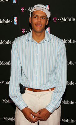 NEW YORK - JUNE 28:  NBA Draftee Patrick O'Bryant attends the T-Mobile Basketball's Rising Stars Celebration at Tao Restaurant on June 28, 2006 in New York City.  (Photo by Matthew Peyton/Getty Images for T-Mobile)