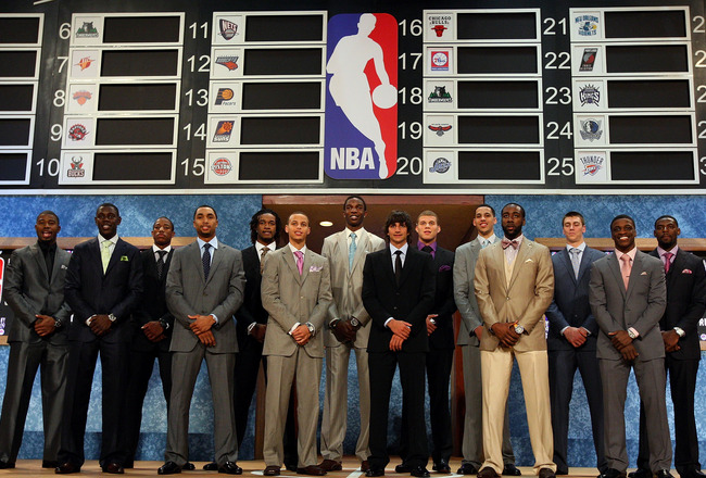 NEW YORK - JUNE 25:  The top prospects pose for a photograph prior to the 2009 NBA Draft at the Wamu Theatre at Madison Square Garden June 25, 2009 in New York City. NOTE TO USER: User expressly acknowledges and agrees that, by downloading and/or using th