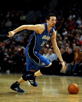 CHICAGO, IL - JANUARY 28: Hedo Turkoglu #15 of the Orlando Magic moves against the Chicago Bulls at the United Center on January 28, 2011 in Chicago, Illinois. The Bulls defeated the Magic 99-90. NOTE TO USER: User expressly acknowledges and agrees that,