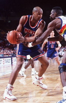 2 Feb 1994: NEW JERSEY NETS FORWARD DERRICK COLEMAN IN ACTION DURING THE NETS GAME AT THE DENVER NUGGETS.