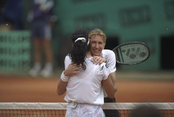 Steffi Graf and Arantxa Sanchez Vicario