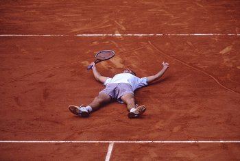 Gustavo Kuerten, after winning the 2001 French Open.
