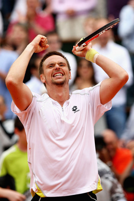 Robin Soderling after beating Rafael Nadal.