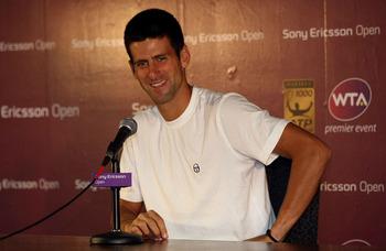 Novak Djokovic at the Sony Ericsson Open.