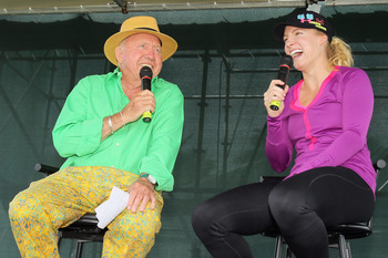 Bud Collins with Bethanie Mattek-Sands