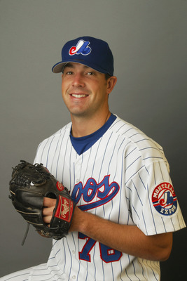 VIERA, FL - FEBRUARY 21:  Josh Karp of the Montreal Expos poses for a portrait during Media Day at Space Coast Stadium on February 21, 2003 in Viera, Florida. (Photo by Rick Stewart/Getty Images)