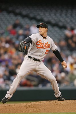 SEATTLE - APRIL 24:  Pitcher Adam Loewen #29 of the Baltimore Orioles throws against the Seattle Mariners during their MLB game on April 24, 2008 at Safeco Field in Seattle, Washington. (Photo by Otto Greule Jr/Getty Images)
