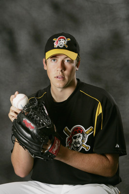 BRADENTON, FL - FEBRUARY 27:  Bryan Bullington #82 of the Pittsburgh Pirates poses for a portrait during Pirates Photo Day at the Pirate City on February 27, 2005 in Bradenton, Florida. (Photo by Ezra Shaw/Getty Images)