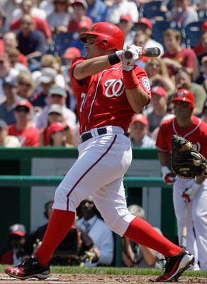 WASHINGTON, DC - MAY 15: Ivan Rodriguez #7 of the Washington Nationals at the plate against the Florida Marlins at Nationals Park on May 15, 2011 in Washington, DC.  (Photo by Rob Carr/Getty Images)