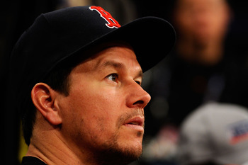 LOS ANGELES, CA - FEBRUARY 19:  Actor Mark Wahlberg looks on as he attends NBA All-Star Saturday night presented by State Farm at Staples Center on February 19, 2011 in Los Angeles, California.  NOTE TO USER: User expressly acknowledges and agrees that, b