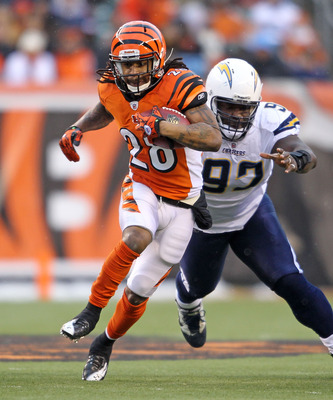 Running back Bernard Scott is an excellent change-of-pace option behind starter Cedric Benson.