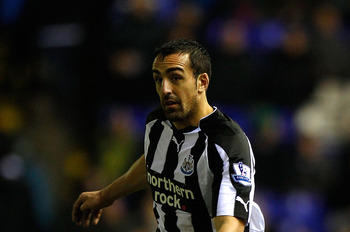 BIRMINGHAM, ENGLAND - FEBRUARY 15:  Newcastle defender Jose Enrique in action during the Barclays Premier League match between Birmingham City and Newcastle United at St Andrews on February 15, 2011 in Birmingham, England.  (Photo by Stu Forster/Getty Ima