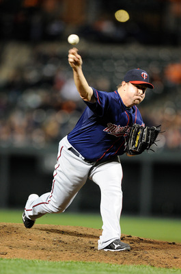 BALTIMORE, MD - APRIL 18:  Matt Capps #55 of the Minnesota Twins pitches against the Baltimore Orioles at Oriole Park at Camden Yards on April 18, 2011 in Baltimore, Maryland.  (Photo by Greg Fiume/Getty Images)