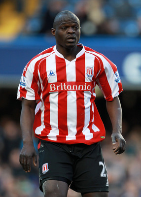 LONDON, ENGLAND - MARCH 07:  Abdoulaye Faye of Stoke City in action during the FA Cup sponsored by E.on Quarter Final match between Chelsea and Stoke City at Stamford Bridge on March 7, 2010 in London, England.  (Photo by Phil Cole/Getty Images)