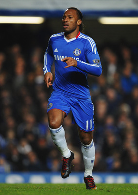 LONDON, ENGLAND - MARCH 01:  Didier Drogba of Chelsea looks on during the Barclays Premier League match between Chelsea and Manchester United at Stamford Bridge on March 1, 2011 in London, England.  (Photo by Clive Mason/Getty Images)