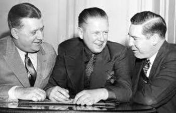 From left: Bert Bell (Eagles), Charles Bidwell (Cardinals) and Art Rooney (Steelers) at an NFL owner's meeting