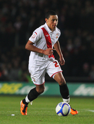 SOUTHAMPTON, ENGLAND - JANUARY 29:  Alex Chamberlain of Southampton in action during the FA Cup sponsored by E.ON 4th Round match between Southampton and Manchester United at St Mary's Stadium on January 29, 2011 in Southampton, England.  (Photo by Clive
