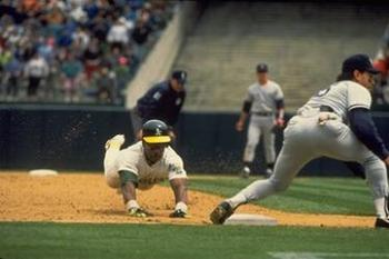 Rickey Henderson swipes third