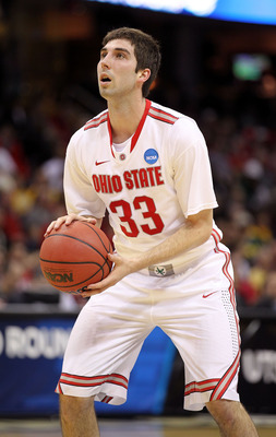 CLEVELAND, OH - MARCH 18: Jon Diebler #33 of the Ohio State Buckeyes shoots a free throw against the Texas-San Antonio Roadrunners during the second round of the 2011 NCAA men's basketball tournament at Quicken Loans Arena on March 18, 2011 in Cleveland,