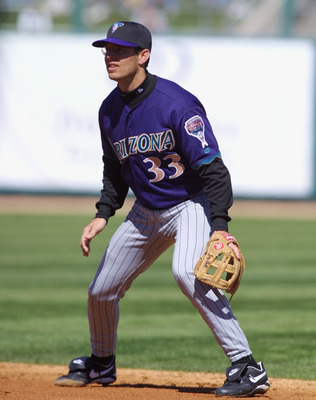 03 Mar 2002 : Jay Bell of the Arizona Diamondbacks during the Spring Training Game against the Chicago White Sox at Tucson Electric Field in Tucson, Arizona. The White Sox won 7-5. DIGITAL IMAGE. Mandatory Credit: Todd Warshaw/Getty Images