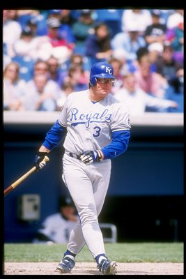 8 May 1994:  Infielder Bob Hamelin of the Kansas City Royals in action during a game against the Chicago White Sox at Comiskey Park in Cicago, Illinois. Mandatory Credit: Jonathan Daniel  /Allsport