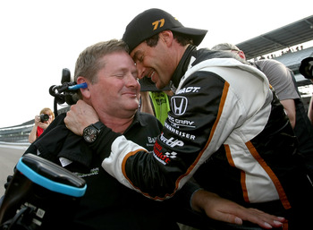 Sam Schmidt and Alex Tagliani on Pole Day