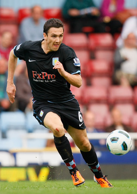 LONDON, ENGLAND - APRIL 16:  Stewart Downing of Aston Villa runs with the ball during the Barclays Premier League match between West Ham United and Aston Villa at the Boleyn Ground on April 16, 2011 in London, England.  (Photo by Tom Dulat/Getty Images)