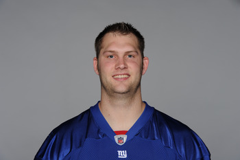EAST RUTHERFORD, NJ - CIRCA 2010: In this handout image provided by the NFL, Scott Chandler of the New York Giants poses for his 2010 NFL headshot circa 2010 in East Rutherford, New Jersey. (Photo by NFL via Getty Images)