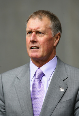 LONDON - MAY 19:  Ex-West Ham United player Sir Geoff Hurst looks on prior to the FA Cup Final match sponsored by E.ON between Manchester United and Chelsea at Wembley Stadium on May 19, 2007 in London, England.  (Photo by Clive Mason/Getty Images)