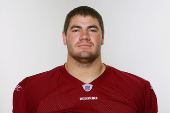 WASHINGTON, DC - CIRCA 2010:  In this photo provided by the NFL, Chad Rinehart of the Washington Redskins poses for his 2010 NFL headshot circa 2010 in Washington, DC.  (Photo by NFL via Getty Images)