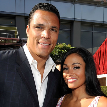 LOS ANGELES, CA - JULY 15:  NFL player Tony Gonzalez and guest arrive at the 2009 ESPY Awards held at Nokia Theatre LA Live on July 15, 2009 in Los Angeles, California. The 17th annual ESPYs will air on Sunday, July 19 at 9PM ET on ESPN.  (Photo by Kevork