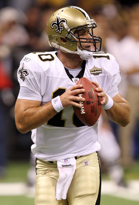 NEW ORLEANS - SEPTEMBER 09:  Quarterback Chase Daniel #10 of the New Orleans Saints at Louisiana Superdome on September 9, 2010 in New Orleans, Louisiana.  (Photo by Ronald Martinez/Getty Images)