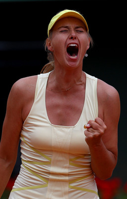 Maria Sharapova barely survived her second-round match at the 2011 French Open
