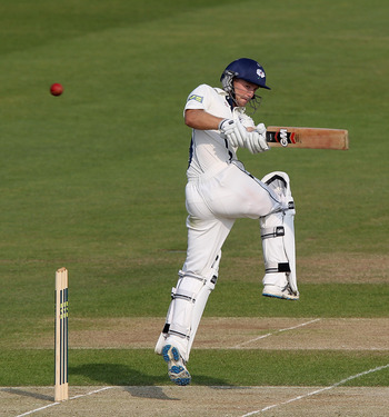 LEEDS, ENGLAND - APRIL 20:  Adam Lyth of Yorkshire pulls the ball during the LV County Championship match between Yorkshire and Nottinghamshire at Headingley on April 20, 2011 in Leeds, England.  (Photo by David Rogers/Getty Images)