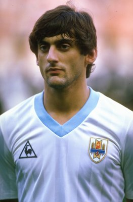 1985:  Portrait of Enzo Francescoli of Uruguay before an Intercontinental Trophy match against France in France. France won the match 2-0.  \ Mandatory Credit: David  Cannon/Allsport