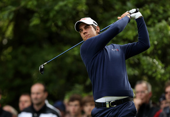 VIRGINIA WATER, ENGLAND - MAY 27:  Matteo Manassero of Italy tees off during the second round of the BMW PGA Championship at the Wentworth Club on May 27, 2011 in Virginia Water, England.  (Photo by Ian Walton/Getty Images)