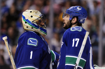 Kesler and Luongo, two of the key penalty killers