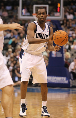 DALLAS, TX - FEBRUARY 23:  Guard Rodrigue Beaubois #3 of the Dallas Mavericks at American Airlines Center on February 23, 2011 in Dallas, Texas.  NOTE TO USER: User expressly acknowledges and agrees that, by downloading and or using this photograph, User