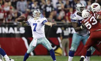 Cowboys' QB Stephen McGee, in action vs. the Cardinals on Christmas Day.