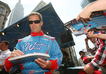NEW YORK - MAY 25:  Indy 500 driver John Andretti signs autographs at Macy's and IZOD's celebration of the Indianapolis Motor Speedway and the Indy 500 at Macy's Herald Square on May 25, 2010 in New York City.  (Photo by Mike Stobe/Getty Images)