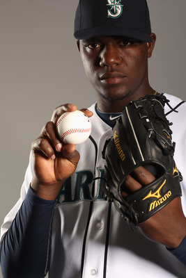 PEORIA, AZ - FEBRUARY 20:  Michael Pineda #36 of the Seattle Mariners poses for a portrait at the Peoria Sports Complex on February 20, 2011 in Peoria, Arizona.  (Photo by Ezra Shaw/Getty Images)