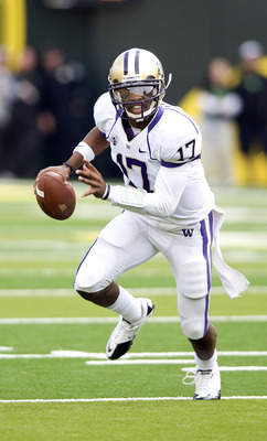 Keith Price managed the Husky offense in limited duty last fall. How will he survive as the No. 1 guy?